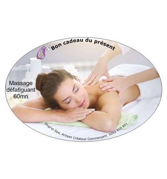 Massage défatiguant 60mn