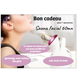 Sauna facial soin 60mn